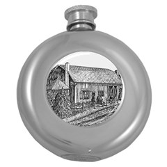 Sugarcreek ` Ave Hurley - ArtRave -  Hip Flask (Round)
