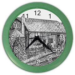 Sugarcreek ` Ave Hurley   Artrave    Wall Clock (color)