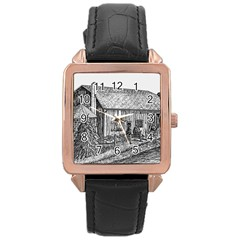 Sugarcreek ` Ave Hurley - ArtRave -  Rose Gold Leather Watch