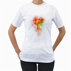 LOVE EXPLOSION Women s T-Shirt (White)