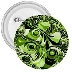Retro Green Abstract 3  Button