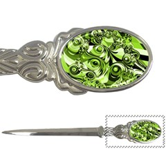 Retro Green Abstract Letter Opener