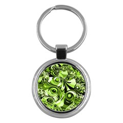 Retro Green Abstract Key Chain (round)