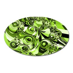 Retro Green Abstract Magnet (oval)
