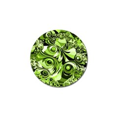 Retro Green Abstract Golf Ball Marker 10 Pack