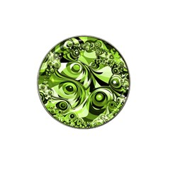 Retro Green Abstract Golf Ball Marker (for Hat Clip)