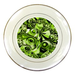 Retro Green Abstract Porcelain Display Plate