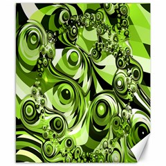 Retro Green Abstract Canvas 8  x 10  (Unframed)