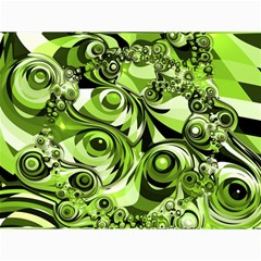 Retro Green Abstract Canvas 12  x 16  (Unframed)
