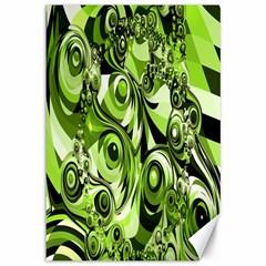 Retro Green Abstract Canvas 12  x 18  (Unframed)