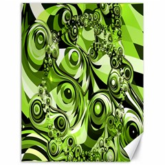 Retro Green Abstract Canvas 18  x 24  (Unframed)