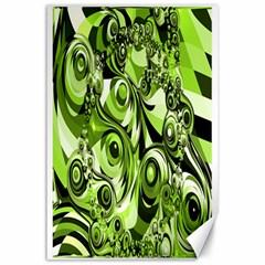 Retro Green Abstract Canvas 24  x 36  (Unframed)