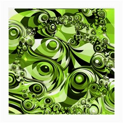 Retro Green Abstract Glasses Cloth (Medium, Two Sided)