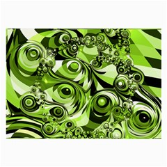 Retro Green Abstract Glasses Cloth (Large)
