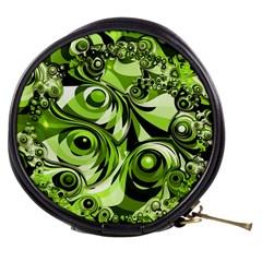 Retro Green Abstract Mini Makeup Case