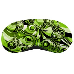 Retro Green Abstract Sleeping Mask