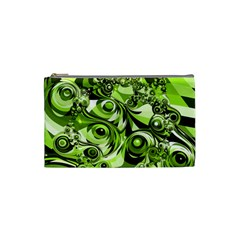 Retro Green Abstract Cosmetic Bag (Small)