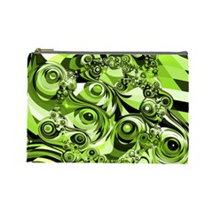 Retro Green Abstract Cosmetic Bag (large)