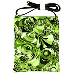 Retro Green Abstract Shoulder Sling Bag