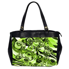 Retro Green Abstract Oversize Office Handbag (Two Sides)