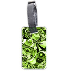 Retro Green Abstract Luggage Tag (One Side)