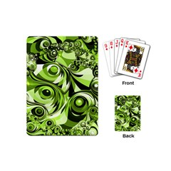 Retro Green Abstract Playing Cards (Mini)