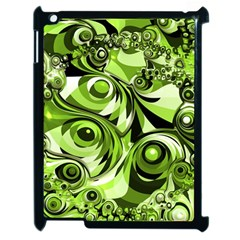 Retro Green Abstract Apple iPad 2 Case (Black)