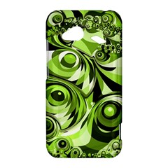 Retro Green Abstract HTC Droid Incredible 4G LTE Hardshell Case