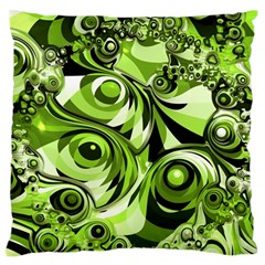 Retro Green Abstract Large Cushion Case (single Sided)