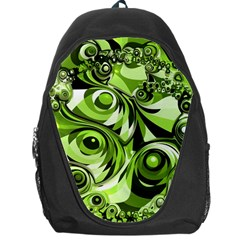 Retro Green Abstract Backpack Bag