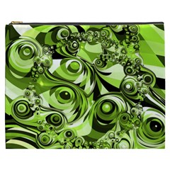 Retro Green Abstract Cosmetic Bag (XXXL)