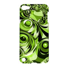 Retro Green Abstract Apple Ipod Touch 5 Hardshell Case