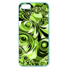 Retro Green Abstract Apple Seamless Iphone 5 Case (color)