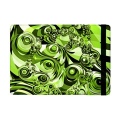 Retro Green Abstract Apple Ipad Mini Flip Case