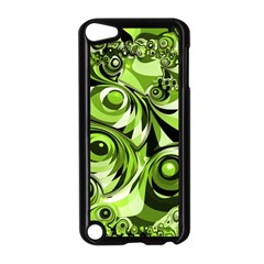 Retro Green Abstract Apple iPod Touch 5 Case (Black)