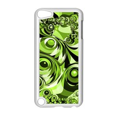 Retro Green Abstract Apple iPod Touch 5 Case (White)