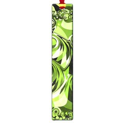 Retro Green Abstract Large Bookmark