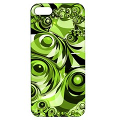 Retro Green Abstract Apple iPhone 5 Hardshell Case with Stand