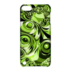 Retro Green Abstract Apple Ipod Touch 5 Hardshell Case With Stand