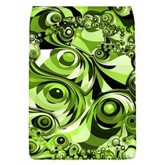 Retro Green Abstract Removable Flap Cover (Large)