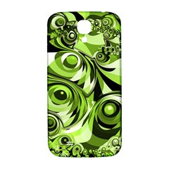 Retro Green Abstract Samsung Galaxy S4 I9500/I9505  Hardshell Back Case