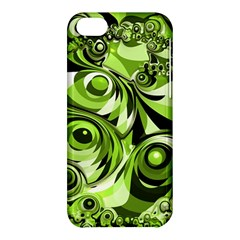 Retro Green Abstract Apple iPhone 5C Hardshell Case