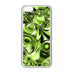 Retro Green Abstract Apple Iphone 5c Seamless Case (white)