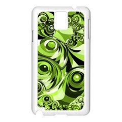 Retro Green Abstract Samsung Galaxy Note 3 N9005 Case (White)