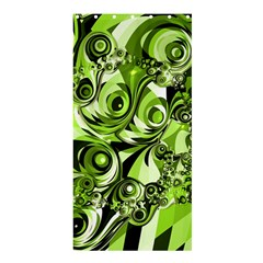 Retro Green Abstract Shower Curtain 36  x 72  (Stall)