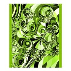 Retro Green Abstract Shower Curtain 60  X 72  (medium)