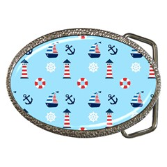 Sailing The Bay Belt Buckle (Oval)