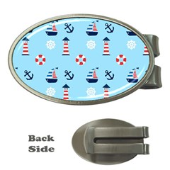 Sailing The Bay Money Clip (Oval)