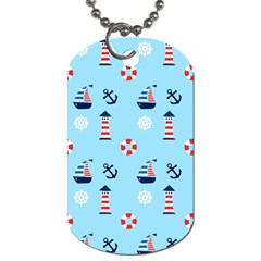 Sailing The Bay Dog Tag (One Sided)
