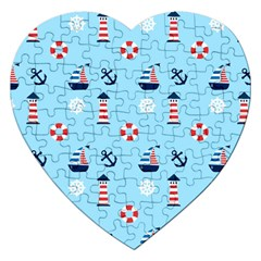 Sailing The Bay Jigsaw Puzzle (heart)
